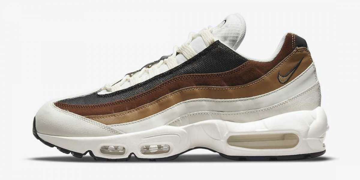 "DB0250-100 Nike Air Max 95 ""Cashmere"" Dark Driftwood Sneakers"