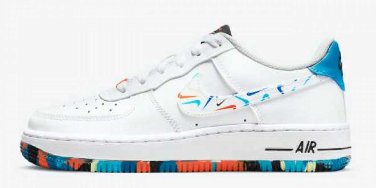 Nike Air Force 1 Low GS Colorful Mini Swooshes Cheap Sale